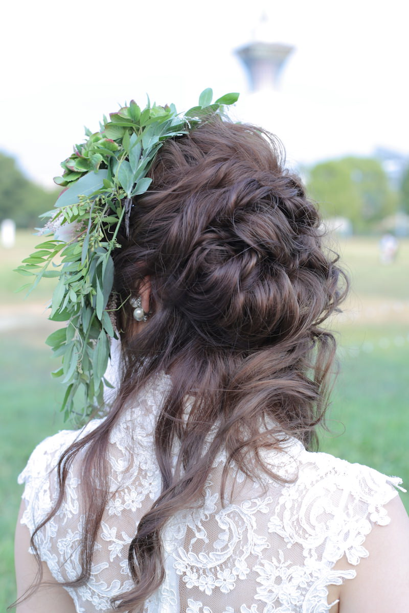 花嫁様のヘアメイク