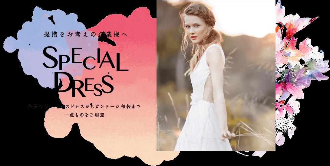 提携をお考えの皆様へ special_dress