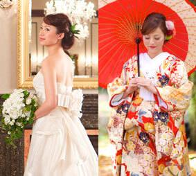 ドレスも和装もどちらも撮りたい方におすすめ洋装1Style&和装1Styleプラン