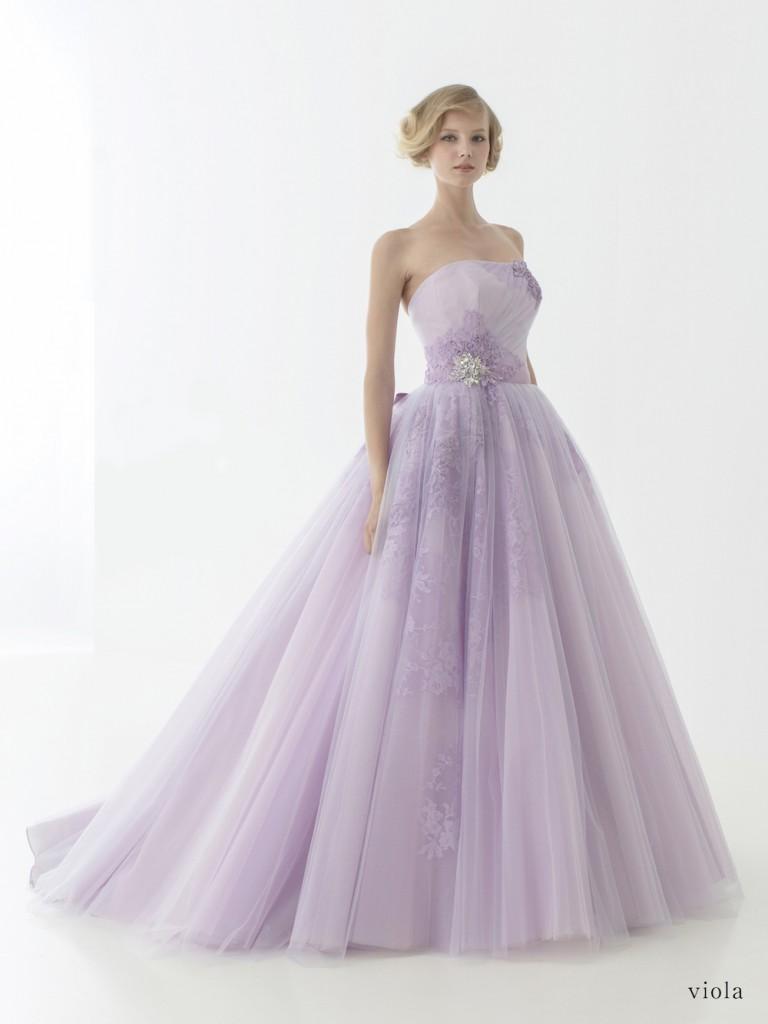 ラベンダーカラー カラードレス