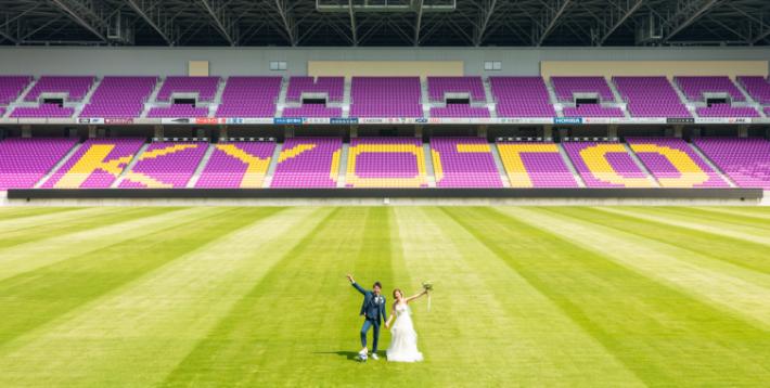 スタジアムウェディングの写真