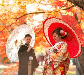 こだわりの着物でロケ撮影和装&紋付袴プラン