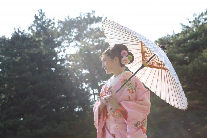 織物㮈染 鈴に飛花【3】