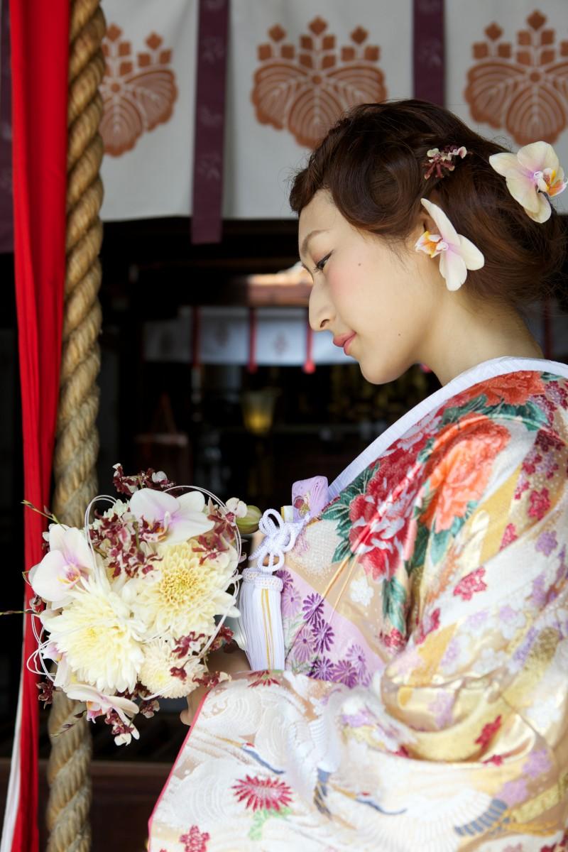 四季草花に流水【4】