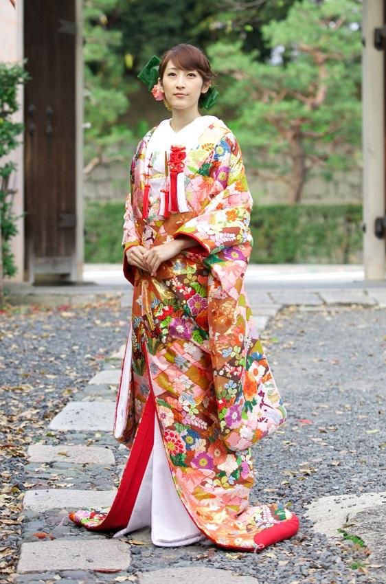手織り 桃山花比べ【1】