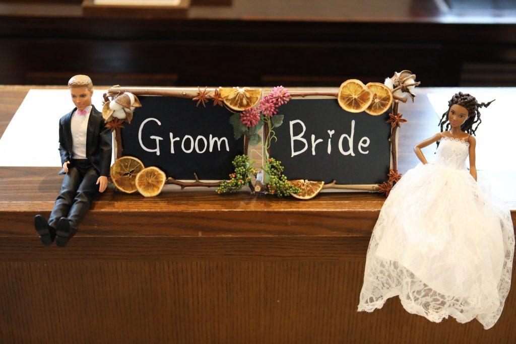 結婚式 受付 新郎新婦