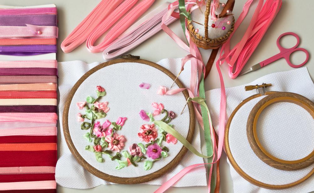 刺繍 リングピロー 道具
